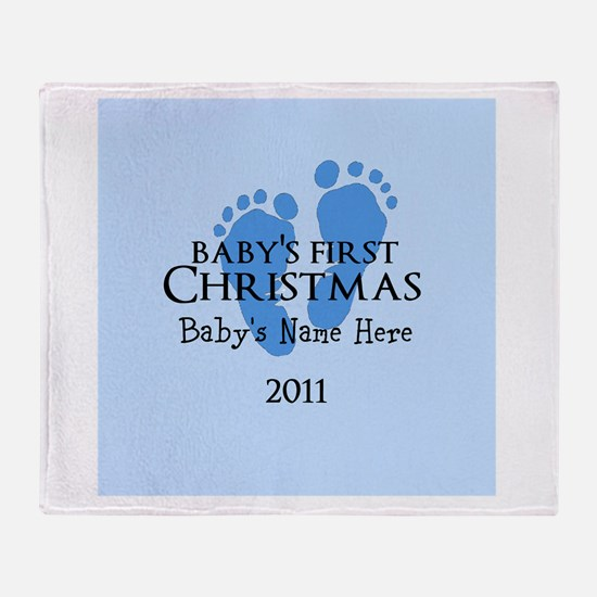 Baby's First Christmas 2011 Throw Blanket