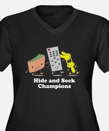 Hide and Seek Champions! Women's Plus Size V-Neck