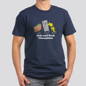 Hide and Seek Champions! Men's Fitted T-Shirt (dar