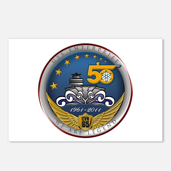 USS Enterprise CVN-65 50th An Postcards (Package o