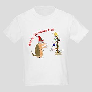 Armadillo Christmas Kids Light T-Shirt