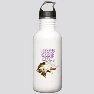 Proud Tri Corgi Mom Stainless Water Bottle 1.0L