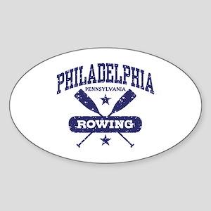 Philadelphia Rowing Sticker (Oval)