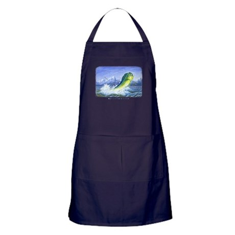 Dolphin in the Weeds Apron (dark)