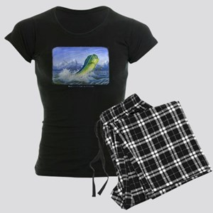 Dolphin in the Weeds Women's Dark Pajamas