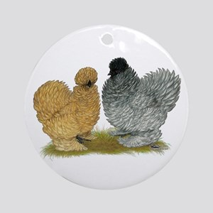 Sizzle Chickens Ornament (Round)