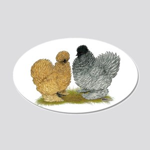 Sizzle Chickens 22x14 Oval Wall Peel