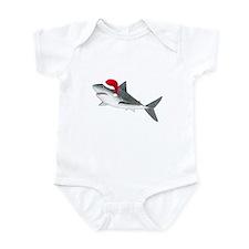 Christmas - Santa - Shark Infant Bodysuit