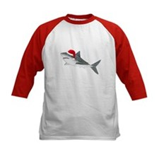 Christmas - Santa - Shark Kids Baseball Jersey