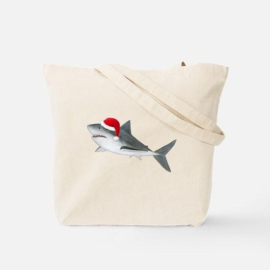 Christmas - Santa - Shark Tote Bag