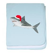 Christmas - Santa - Shark baby blanket