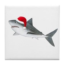 Christmas - Santa - Shark Tile Coaster