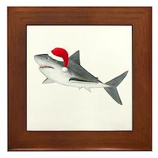 Christmas - Santa - Shark Framed Tile