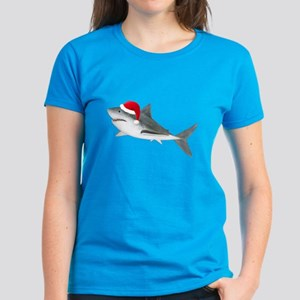 Christmas - Santa - Shark Women's Dark T-Shirt