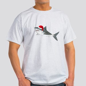 Christmas - Santa - Shark Light T-Shirt