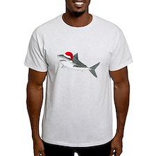 Christmas - Santa - Shark Light T-Shirt