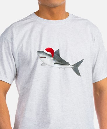 Christmas - Santa - Shark T-Shirt