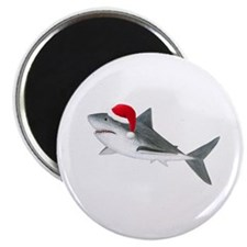 Christmas - Santa - Shark Magnet