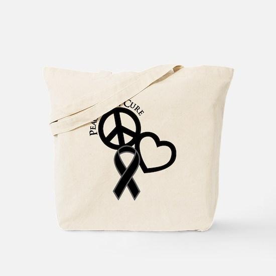 Peace, Love, Cure Tote Bag