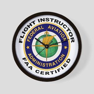 Flight Instructor Wall Clock