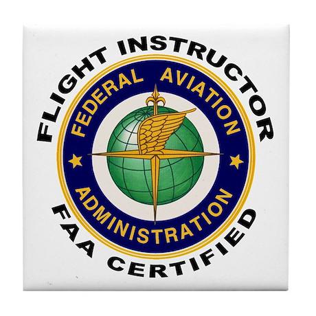 Flight Instructor Tile Coaster