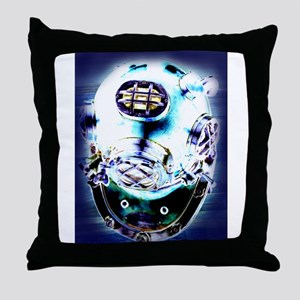 Deep Sea Diver Throw Pillow