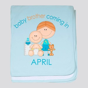 Baby Bro Due April baby blanket