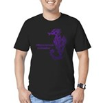 Sea horse Men's Fitted T-Shirt (dark)