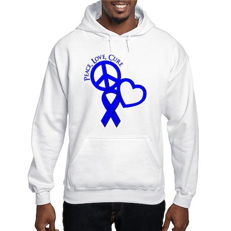 Peace, Love, Cure Hooded Sweatshirt