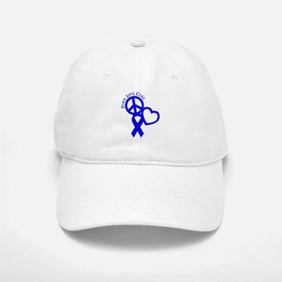Peace, Love, Cure Baseball Baseball Cap