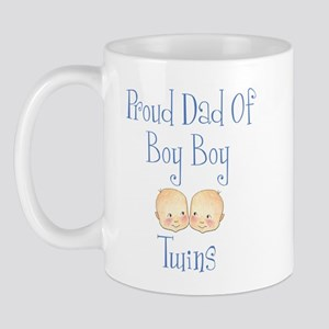 Proud Dad of Boy Twins Mug