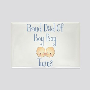 Proud Dad of Boy Twins Rectangle Magnet