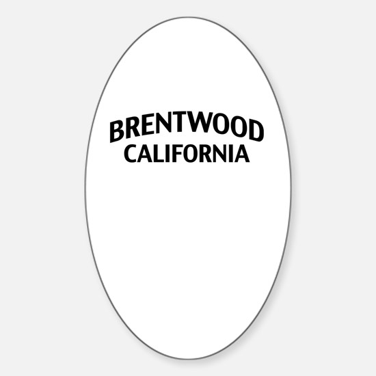 Brentwood California Sticker (Oval)