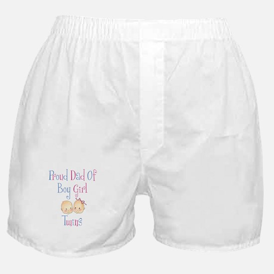 Proud Dad of Boy/Girl Twins Boxer Shorts