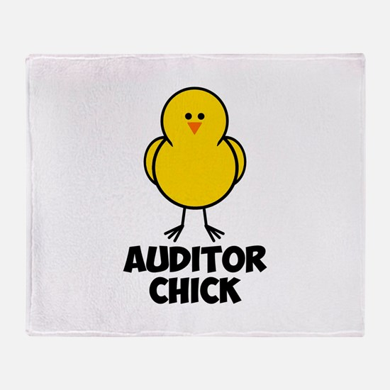 Auditor Chick Throw Blanket