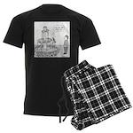 Drinking Fountain (no text) Men's Dark Pajamas