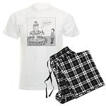 Drinking Fountain (no text) Men's Light Pajamas