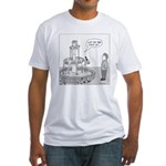 Drinking Fountain (no text) Fitted T-Shirt