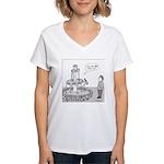 Drinking Fountain (no text) Women's V-Neck T-Shirt