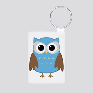Cute Owl Aluminum Photo Keychain