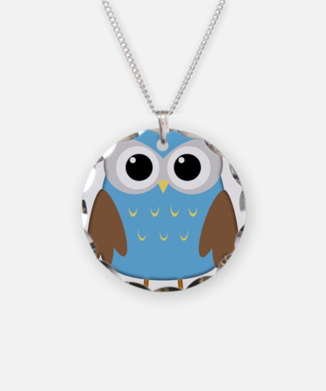 Cute Owl Necklace Circle Charm