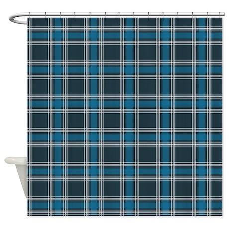 Plaid Classic Blue Shower Curtain
