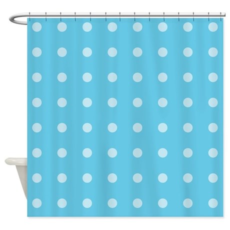 Polka Dots Blue Shower Curtain