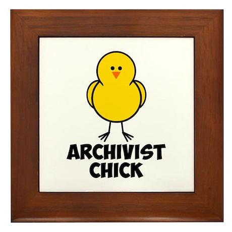Archivist Chick Framed Tile