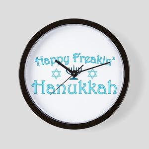 Happy Hanukkah Wall Clock