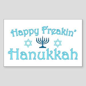 Happy Hanukkah Sticker (Rectangle)