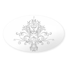 Swirl De Lis Sticker (Oval 10 pk)