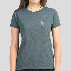 Guinea Pig Paw Print Women's Dark T-Shirt