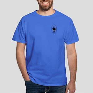 Guinea Pig Paw Print Dark T-Shirt