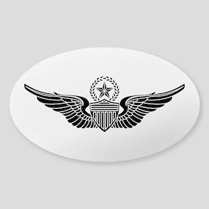 Aviator - Master B-W Sticker (Oval)